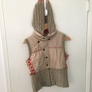 Free people hooded jacket puffy